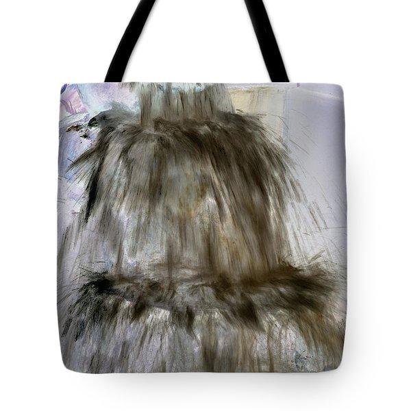 Brown Spray Tote Bag