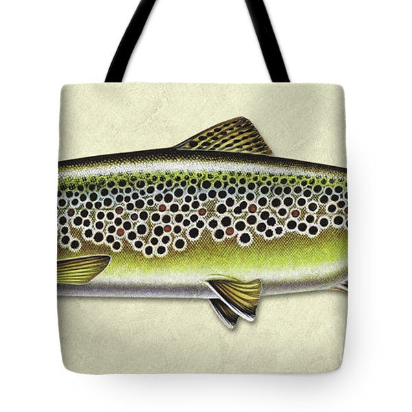 Brown Trout Id Tote Bag