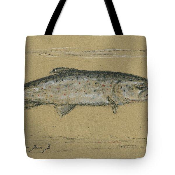 Brown Trout Tote Bag