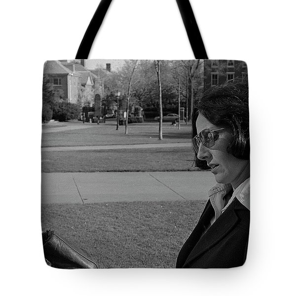 Brown University Student And His Mother, 1975 Tote Bag