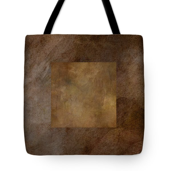 Brown Wheat Abstract Tote Bag