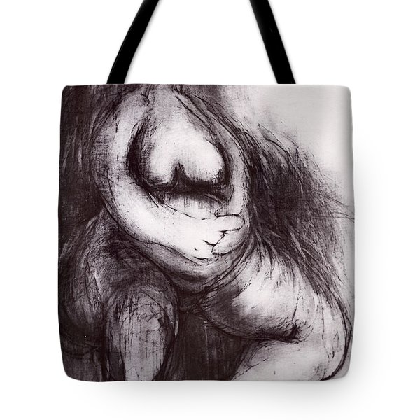Tote Bag featuring the sculpture Brownies's Mother / Sitting by Robert F Battles