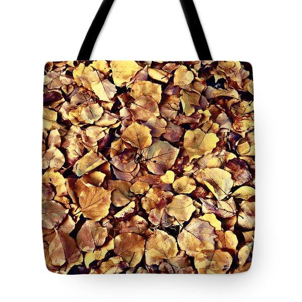 Browning Leaves Tote Bag