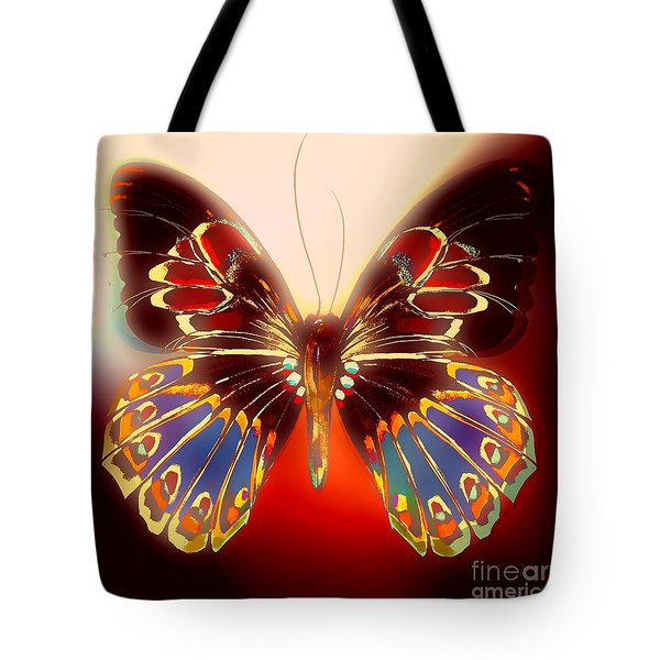 Browny Butterfly Tote Bag