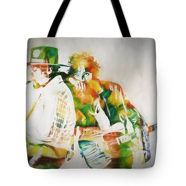 Bruce And The Big Man Tote Bag by Dan Sproul