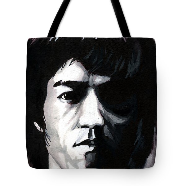 Bruce Lee Portrait Tote Bag