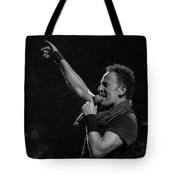 Bruce Springsteen In Cleveland Tote Bag