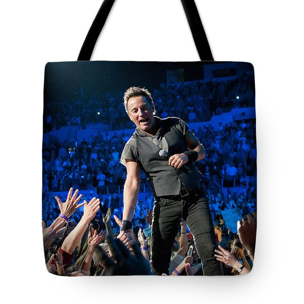 Bruce Springsteen La Sports Arena Tote Bag by Jeff Ross