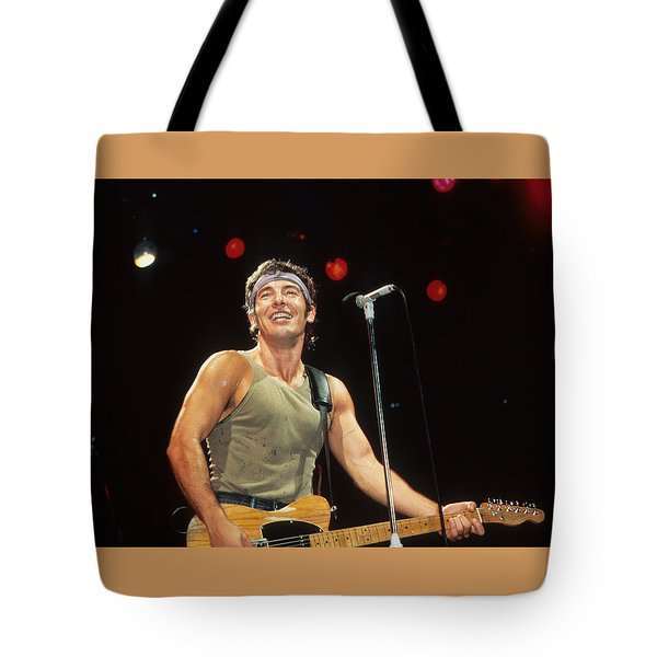 Bruce Springsteen Tote Bag by Rich Fuscia