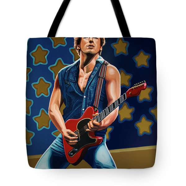 Bruce Springsteen The Boss Painting Tote Bag