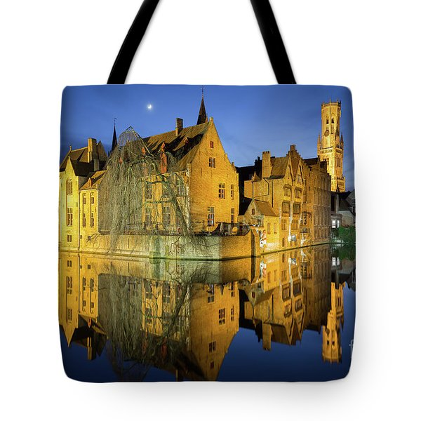 Brugge Twilight Tote Bag by JR Photography