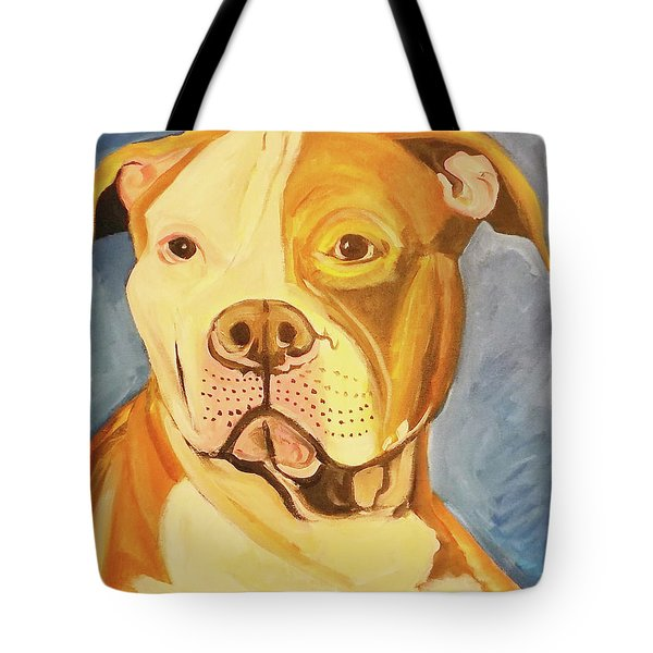 Tote Bag featuring the painting Bruiser by John Keaton