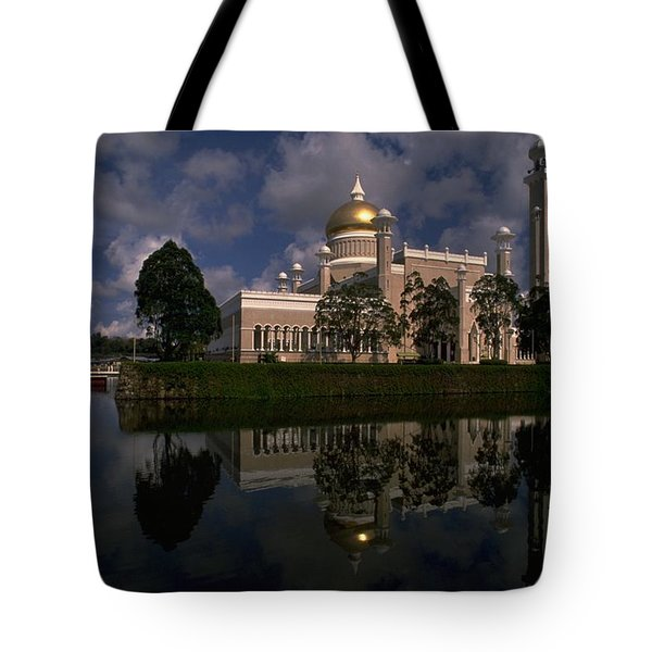 Brunei Mosque Tote Bag by Travel Pics