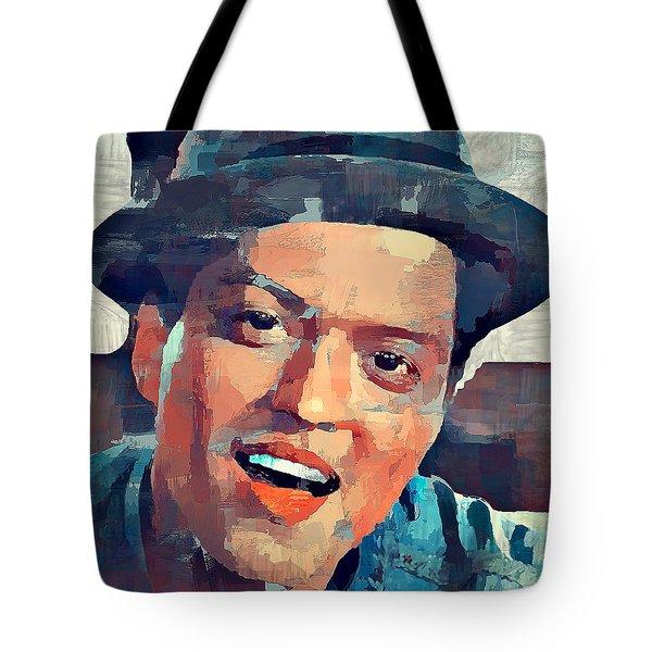 Bruno Mars Portrait Tote Bag