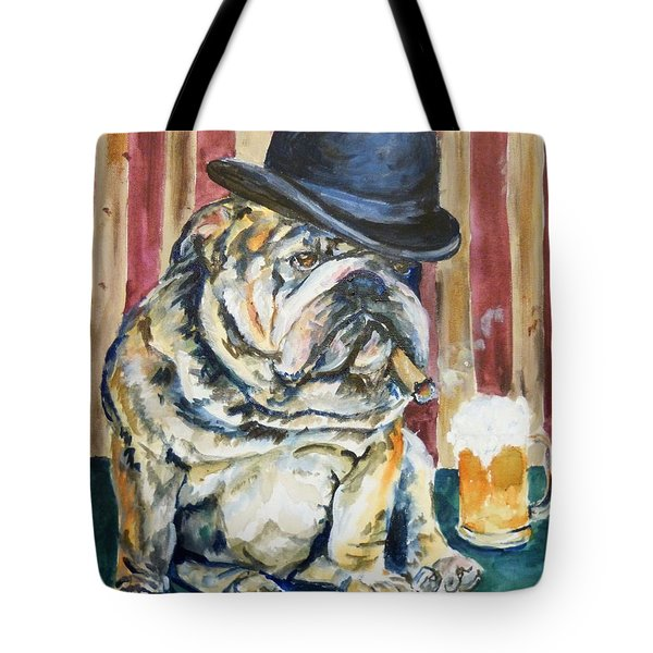 Tote Bag featuring the painting Bruno by P Maure Bausch