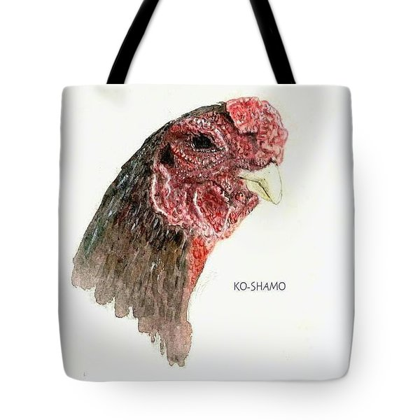Bruno The Ko Shamo Rooster Tote Bag