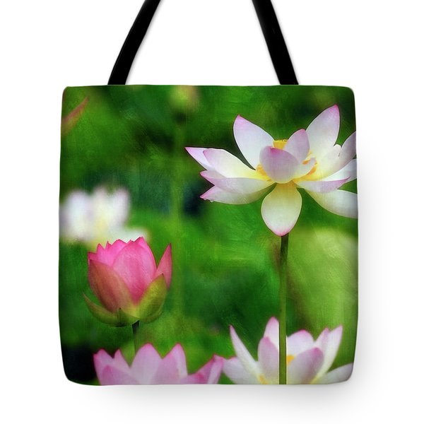 Tote Bag featuring the photograph Brushed Lotus by Edward Kreis