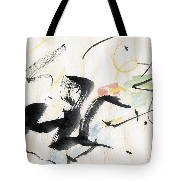 Brushstroke Scamper Tote Bag by Asha Carolyn Young