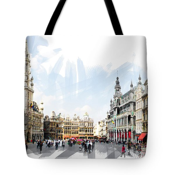 Brussels Grote Markt  Tote Bag by Tom Cameron