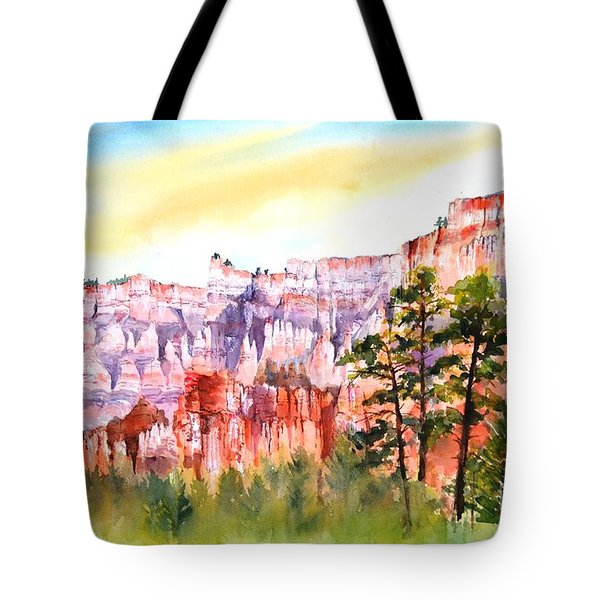 Bryce Canyon #3 Tote Bag by Betty M M Wong