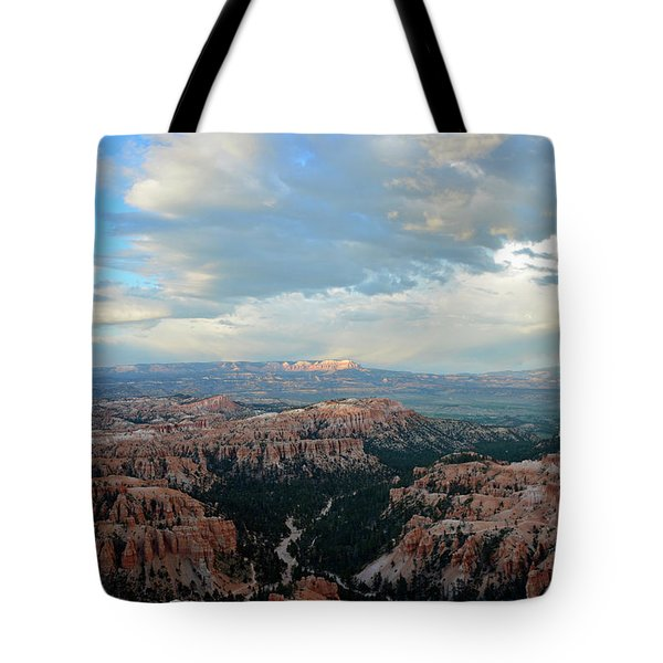 Tote Bag featuring the photograph Bryce Canyon Skyview by Bruce Gourley