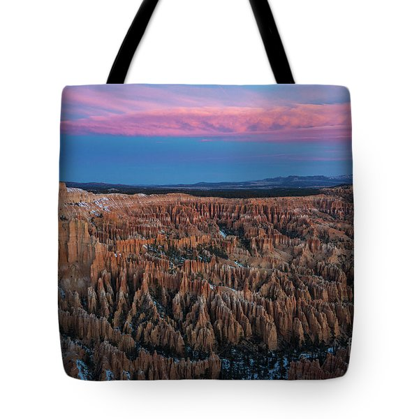 Bryce Canyon Sunrise Early Winter Tote Bag