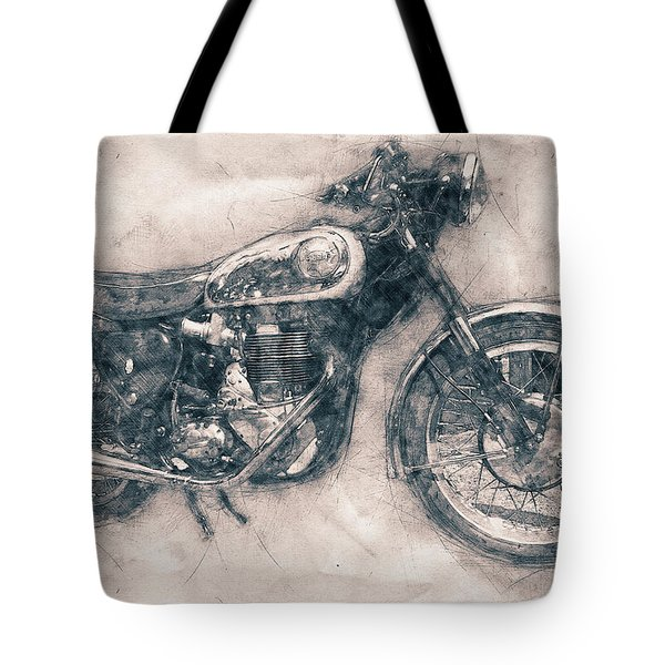 Bsa Gold Star - 1938 - Motorcycle Poster - Automotive Art Tote Bag