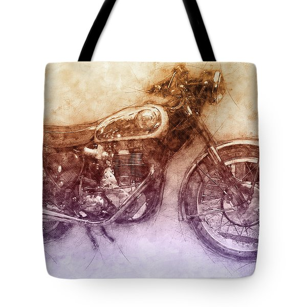 Bsa Gold Star 2 - 1938 - Motorcycle Poster - Automotive Art Tote Bag