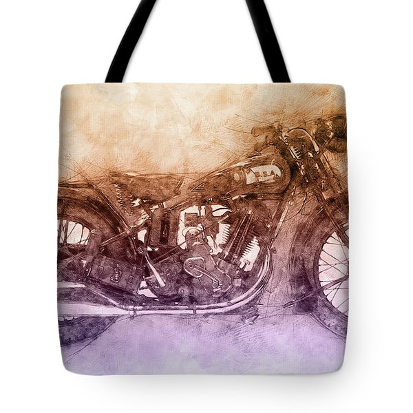 Bsa Sloper - 1927 - Vintage Motorcycle Poster 2 - Automotive Art Tote Bag