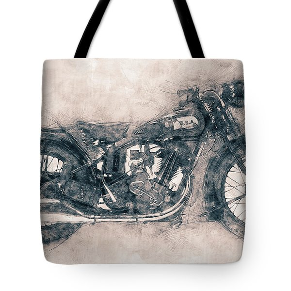 Bsa Sloper - 1927 - Vintage Motorcycle Poster - Automotive Art Tote Bag