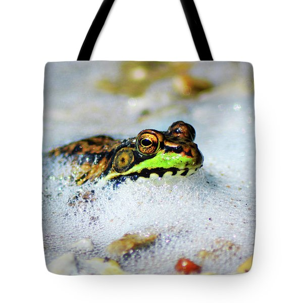 Tote Bag featuring the pyrography Bubble Bath by Sally Sperry