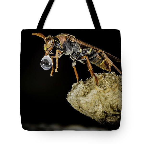 Bubble Blowing Wasp Tote Bag
