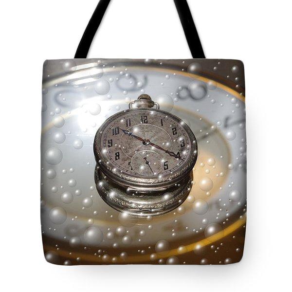 Bubble Clock Tote Bag
