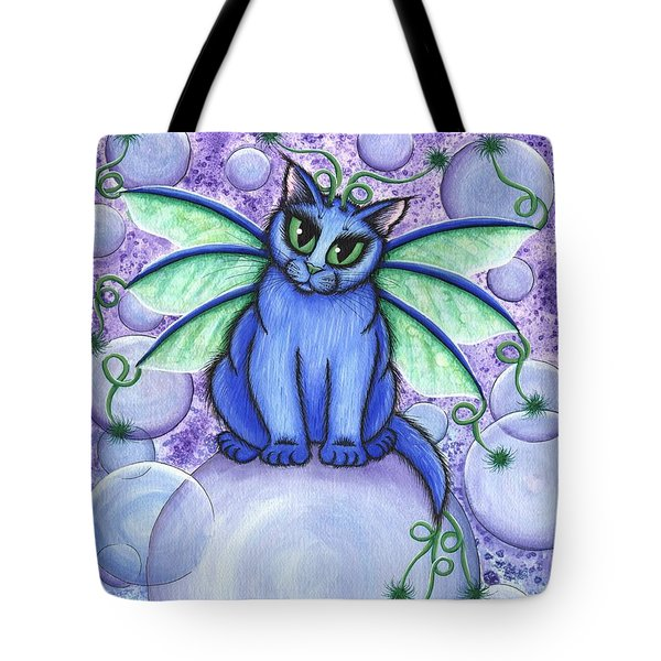Bubble Fairy Cat Tote Bag