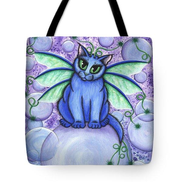 Bubble Fairy Cat Tote Bag