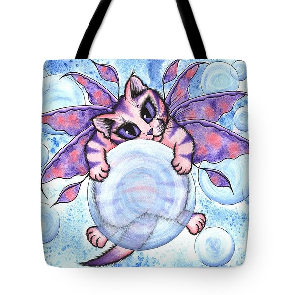 Bubble Fairy Kitten Tote Bag