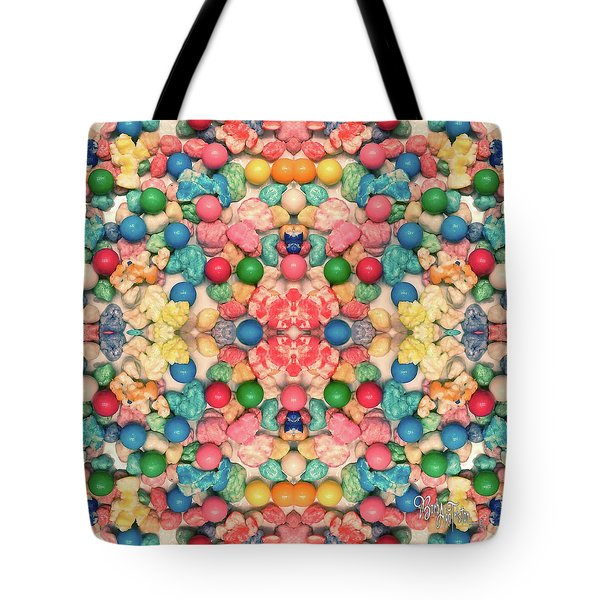 Tote Bag featuring the digital art Bubble Gum #9776 by Barbara Tristan