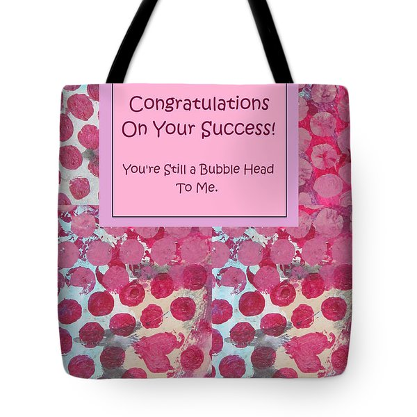 Congratulations Tote Bag by Mary Ellen Frazee