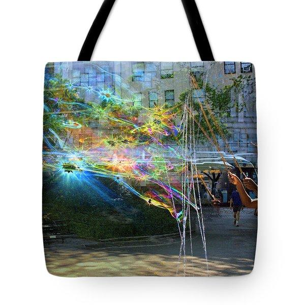 Bubble Maker Collage 1 Tote Bag