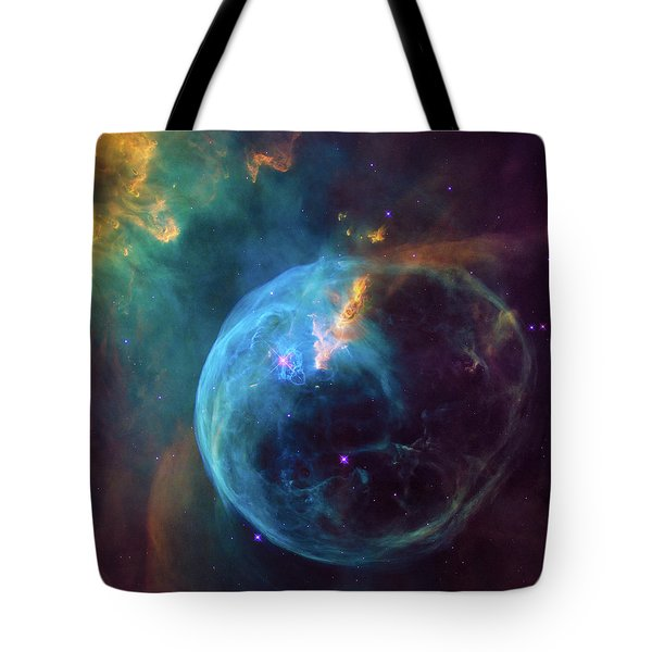 Tote Bag featuring the photograph Bubble Nebula by Marco Oliveira