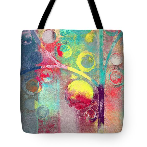 Tote Bag featuring the painting Bubble Tree - 285l by Variance Collections