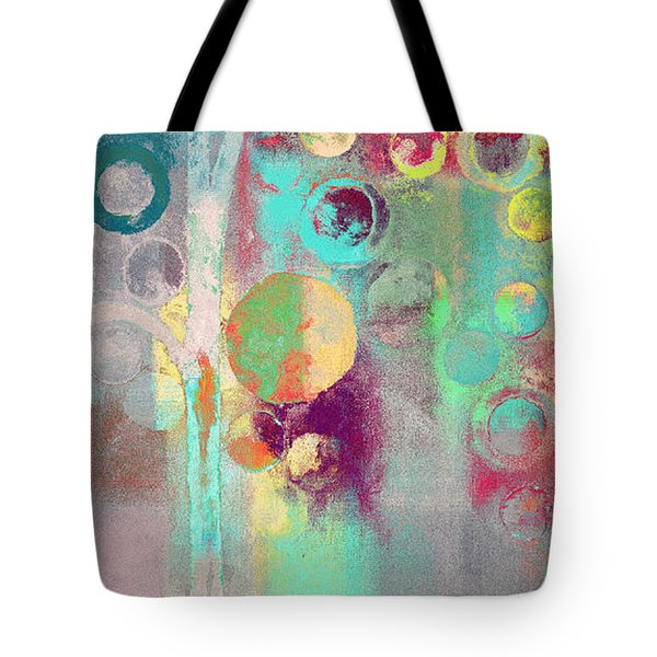Tote Bag featuring the digital art Bubble Tree - 285r by Variance Collections
