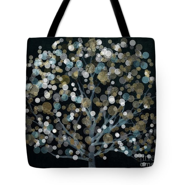 Bubble Tree Night Tote Bag by Mindy Sommers