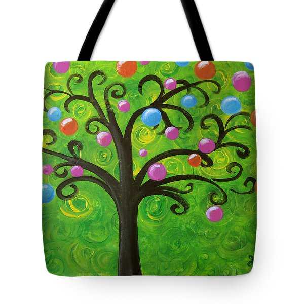 Bubble Tree Tote Bag by Oiyee At Oystudio