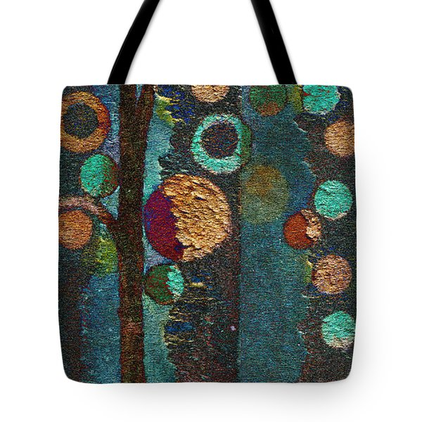 Bubble Tree - Spc02bt05 - Right Tote Bag by Variance Collections