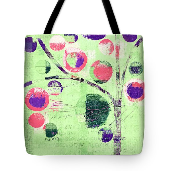 Tote Bag featuring the digital art Bubble Tree - 224c33j5l by Variance Collections