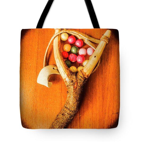 Bubblegum Slingshot Tote Bag