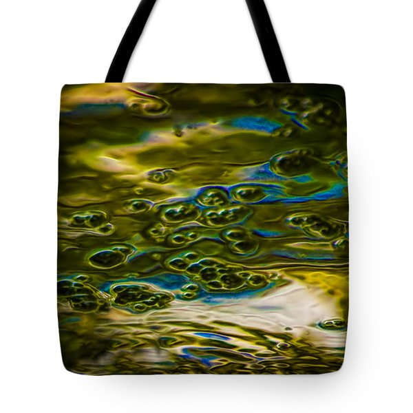Bubbles And Reflections Tote Bag by Marvin Spates