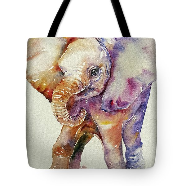 Bubbles Baby Elephant Tote Bag