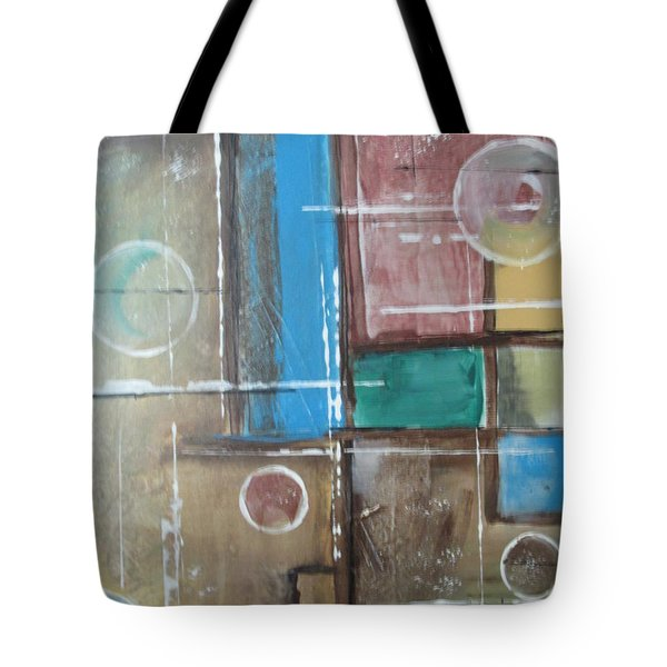 Tote Bag featuring the painting Bubbles In The Air by Sharyn Winters